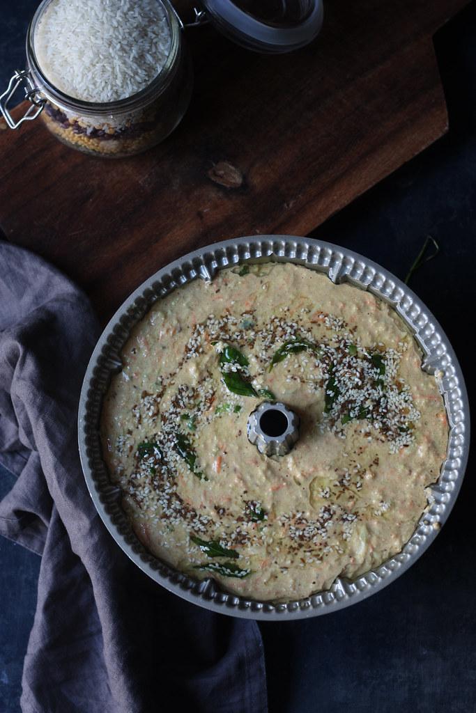 Instant Savory Vegetable Cake- Handvo (Gluten Free)