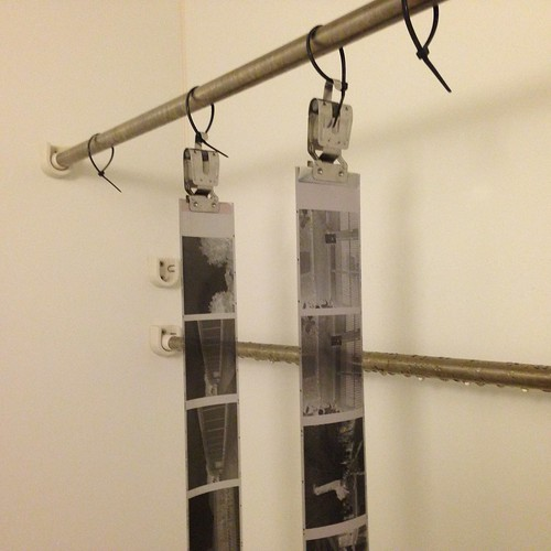 drying two rolls of 120 film in a bath