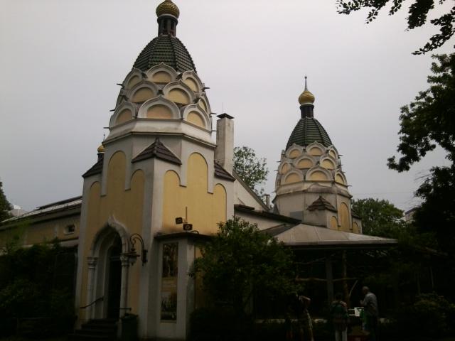 Historisches Vogelhaus im russischen Stil