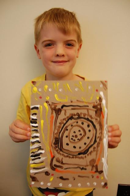 2 Aboriginal Dot Painting - AR