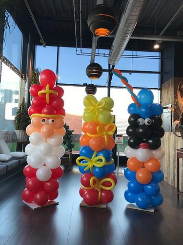 Ballonpilaar Sint en Piet Sinterklaas Watertuin Spijkenisse