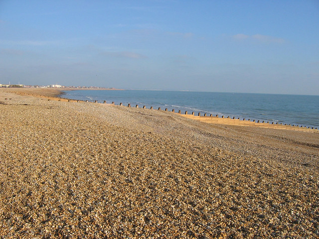 The beach in Eastbourne