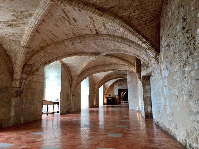 Galerías del castillo de Cognac donde nació Francisco I (diseñadas por Leonardo Da Vinci)
