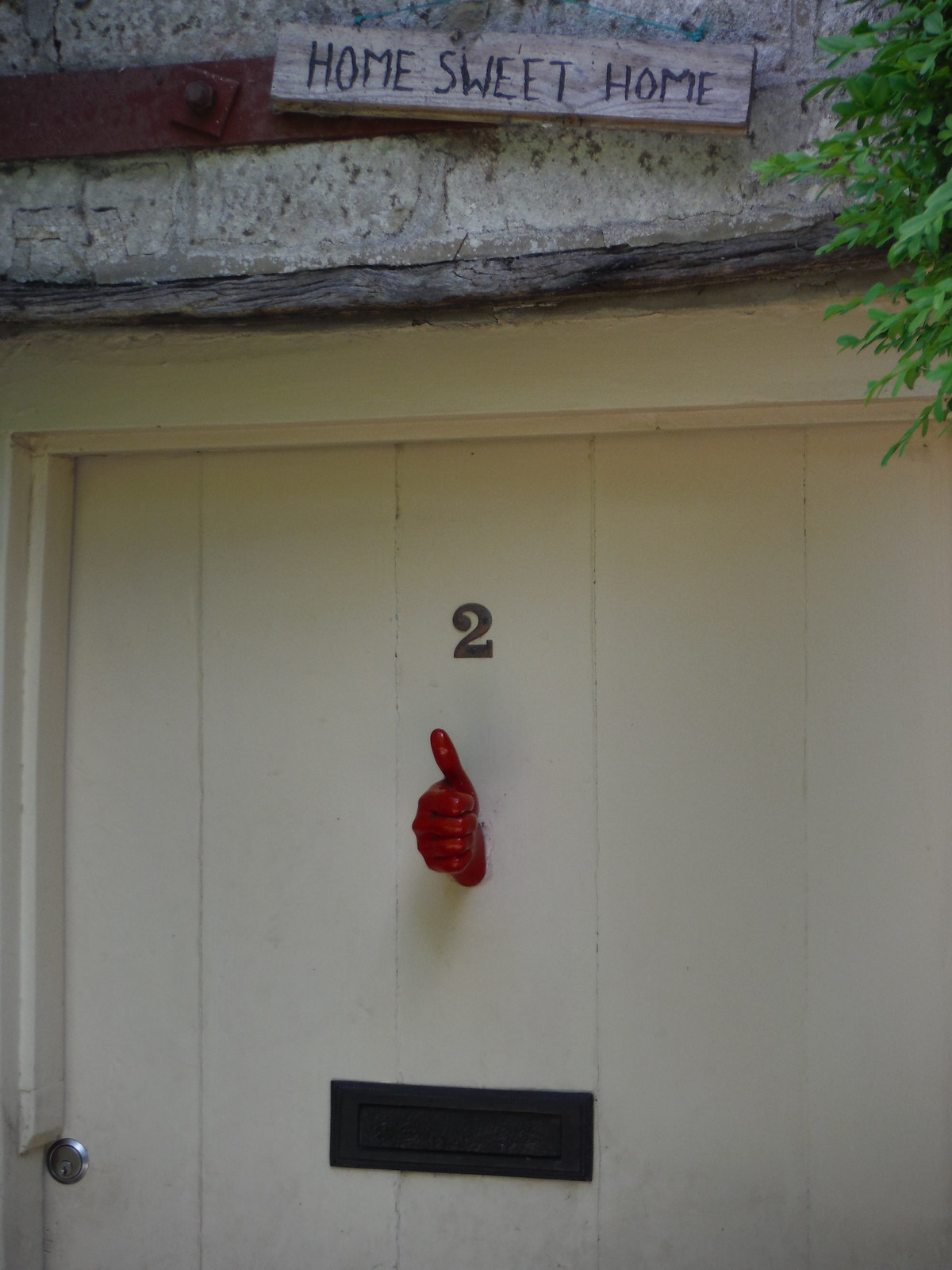 Doorknocker in Portash SWC Walk 249 Tisbury Circular via Dinton and Fovant
