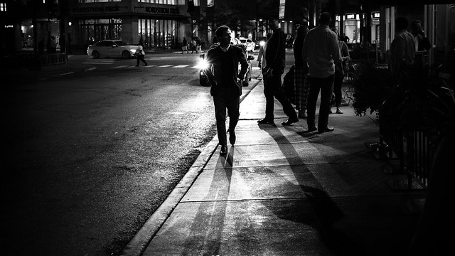 The guy - Chicago, United States - Black and white street photography