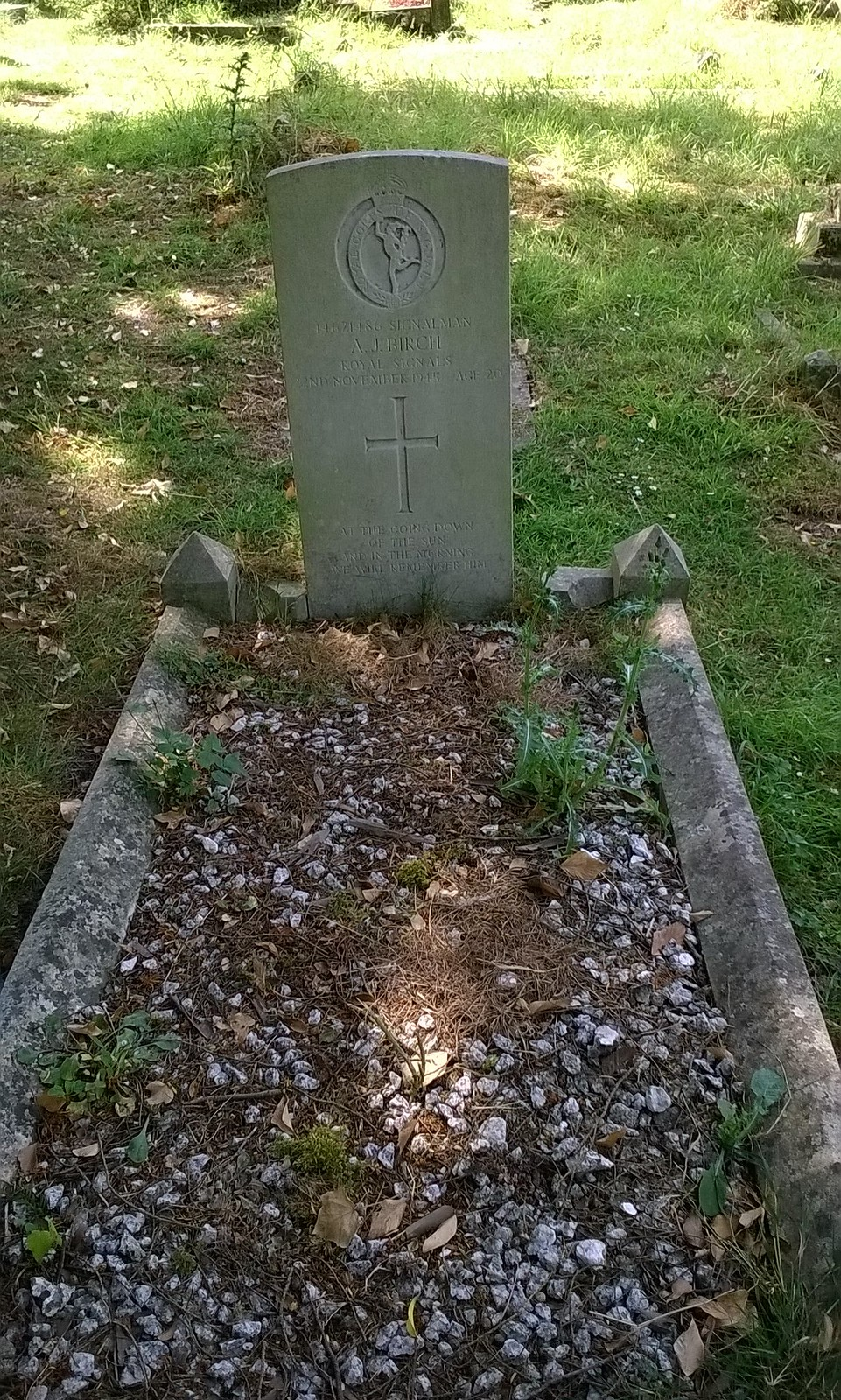 Young signalman's final resting place Behind the mausoleum