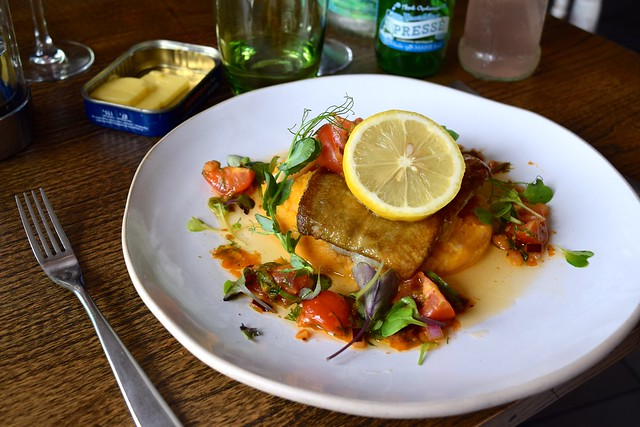 Baked Cod, Sweet Potato & Salsa at The Boatyard, Isle of Man