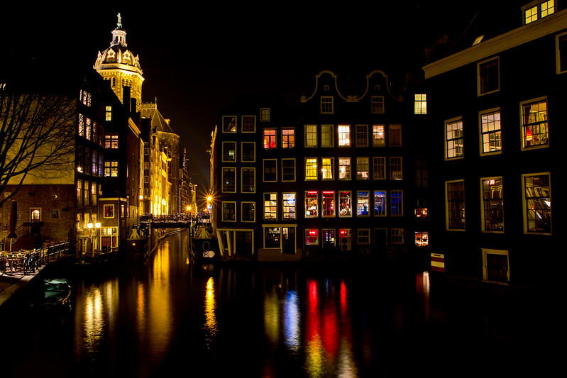 Amsterdam at Night by F. Gopp via Flickr Creative Commons licence
