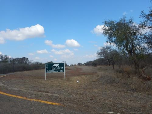 Signage to Hlane National Park