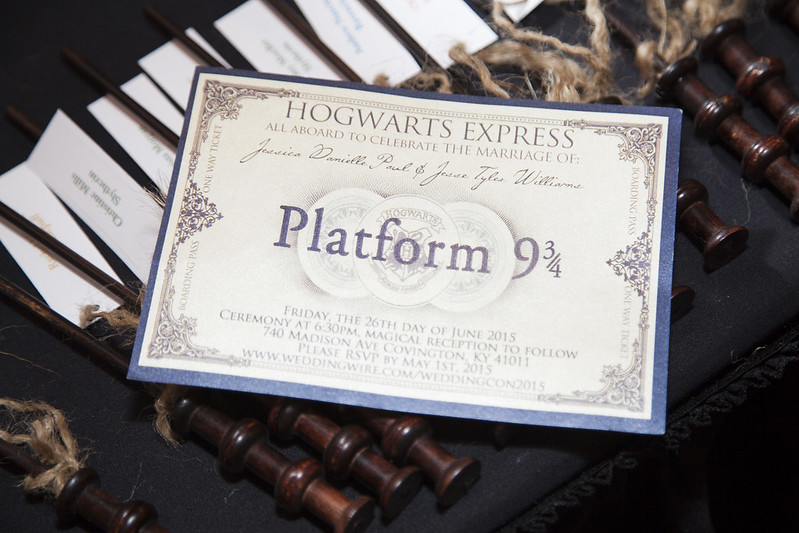 This Harry Potter wedding wins the House Cup on @offbeatbride