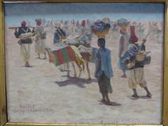 """""""Tirailleurs sénégalais en arrière-garde"""", Marius Perret (1853-1900), Musée des beaux-Arts, Pau, Béarn, Pyrénées Atlantiques, Aquitaine, France."""