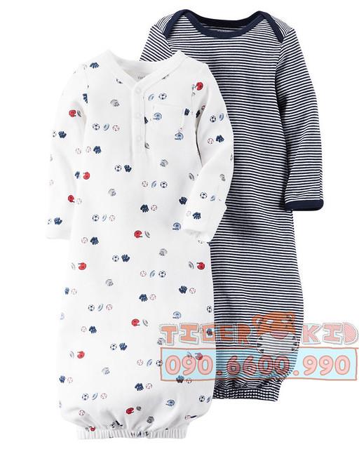 Quần áo trẻ em, bodysuit, Carter, đầm bé gái cao cấp, quần áo trẻ em nhập khẩu, Set 2 túi ngủ Carter's nhập Mỹ chính hãng