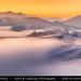 Switzerland - Jura Mountains submerged in mist at Sunset by © Lucie Debelkova / www.luciedebelkova.com