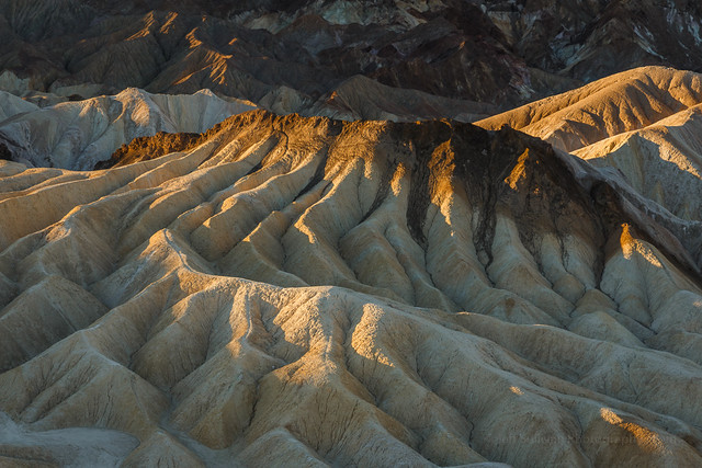 Eroded Hills by Gower Wash, Death Valley