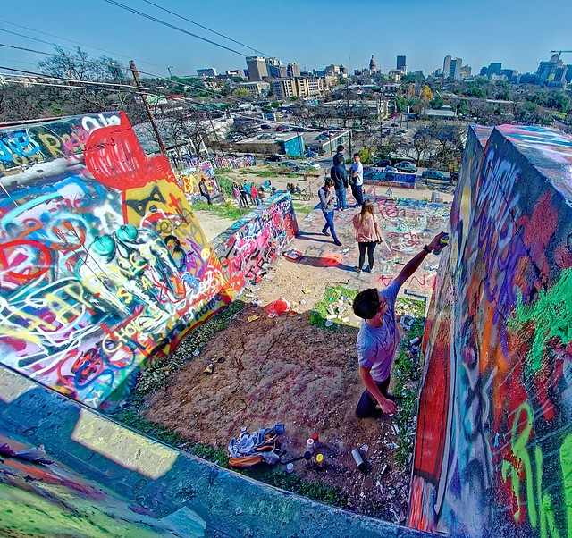 Graffiti Park at Castle Hill - Austin, TX