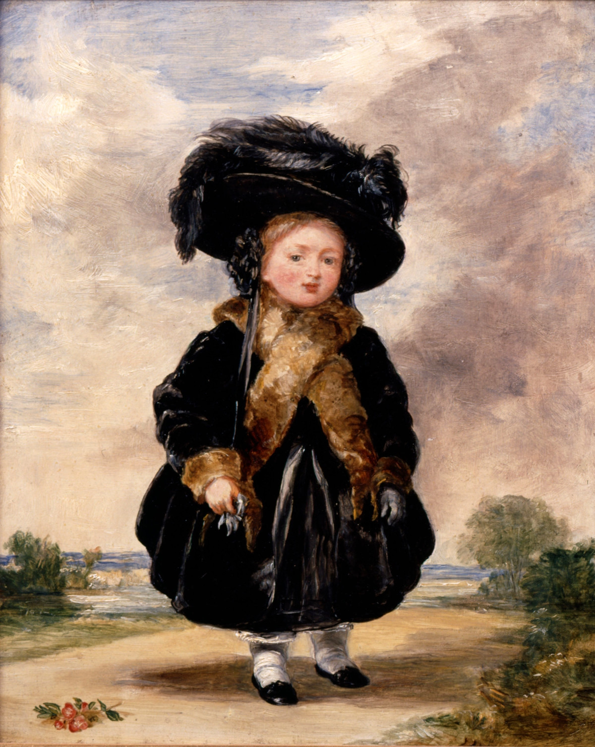 Victoria, aged four Painting by Stephen Poyntz Denning, 1823