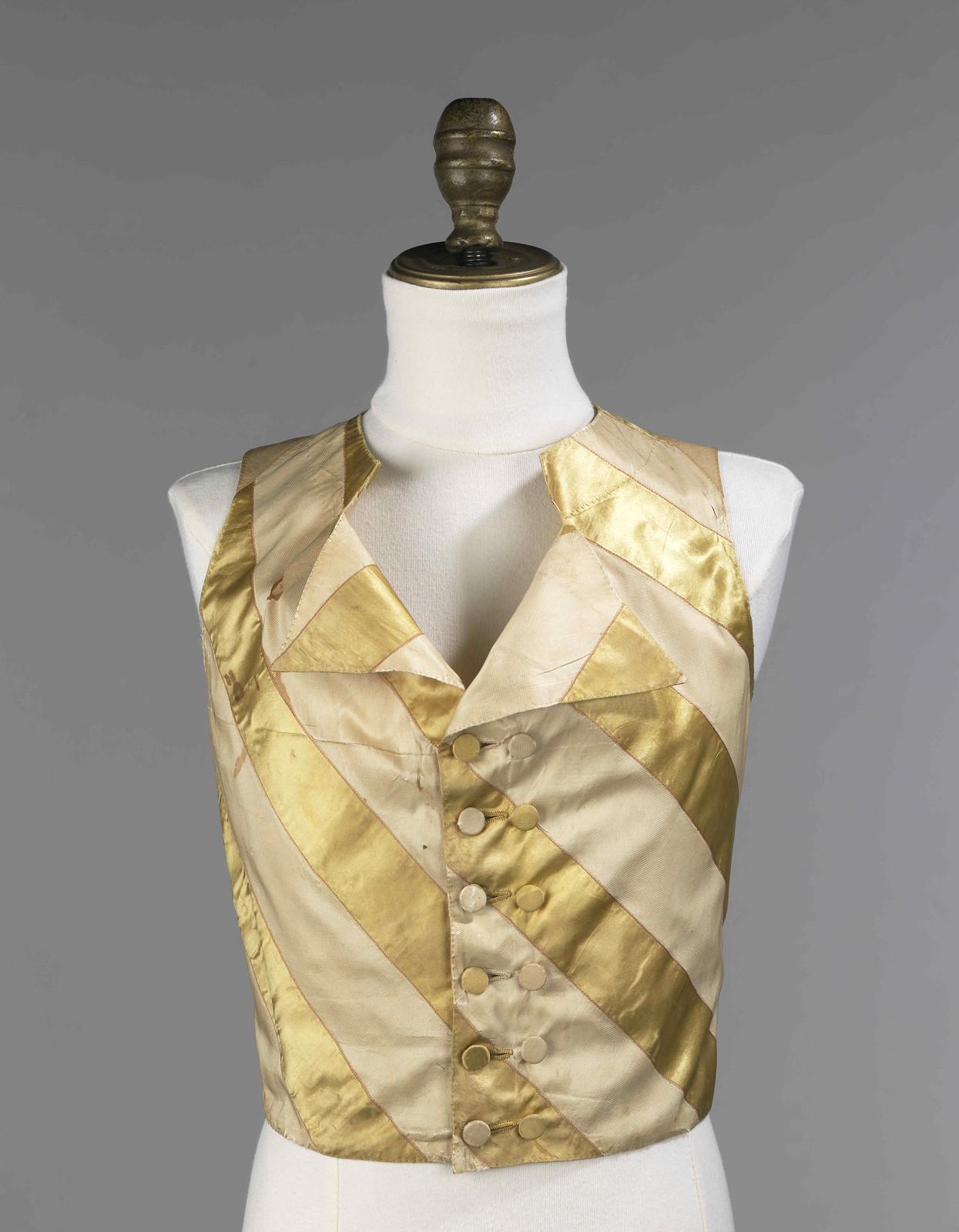1810. American. Silk, linen. metmuseum