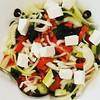 #salad#greek#fresh #garden #vegetables#saturday #summermood #healthy #food#instafood