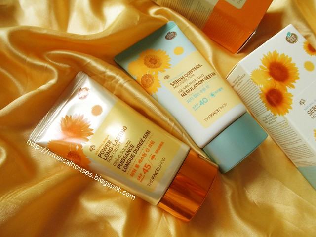 The Face Shop Sunscreen Natural Sun Power Long Lasting Sebum Control Tubes