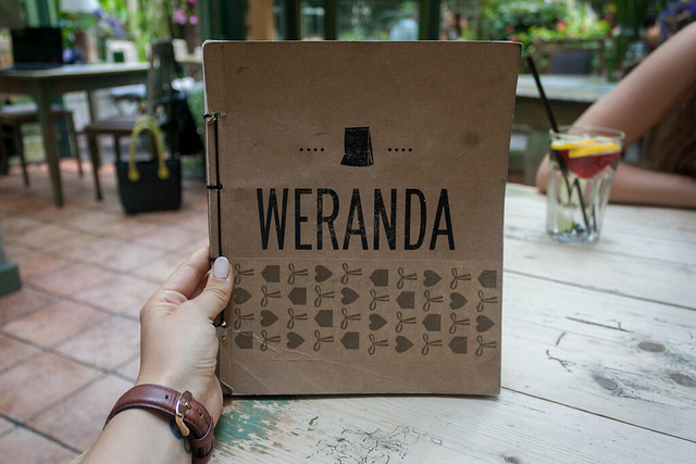 Menu at Weranda