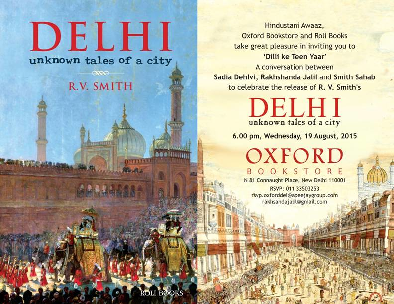 City Notice - Three Great Delhi Chroniclers to Come Together, Oxford Bookstore