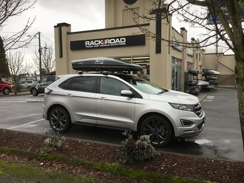 Ford Edge W Panoramic Roof Whispbar Promo S Throughbar W Cargo Box