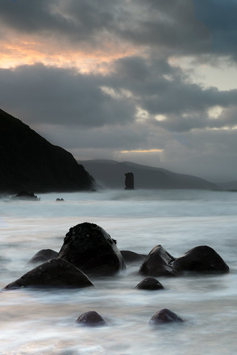 kerry kinard sea stack sunrise rock movement mountains