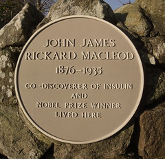 Photo of John James Rickard MacLeod yellow plaque