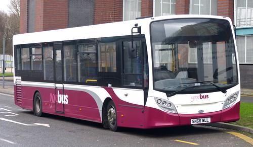 SN66 WLL 'yourbus' No. 1404 Alexander Dennis Ltd. Enviro 200 on 'Dennis Basford's railsroadsrunways.blogspot.co.uk'