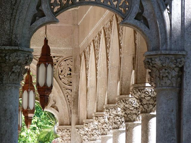 Detalle del Palacio de Monserrate (Sintra, Portugal)