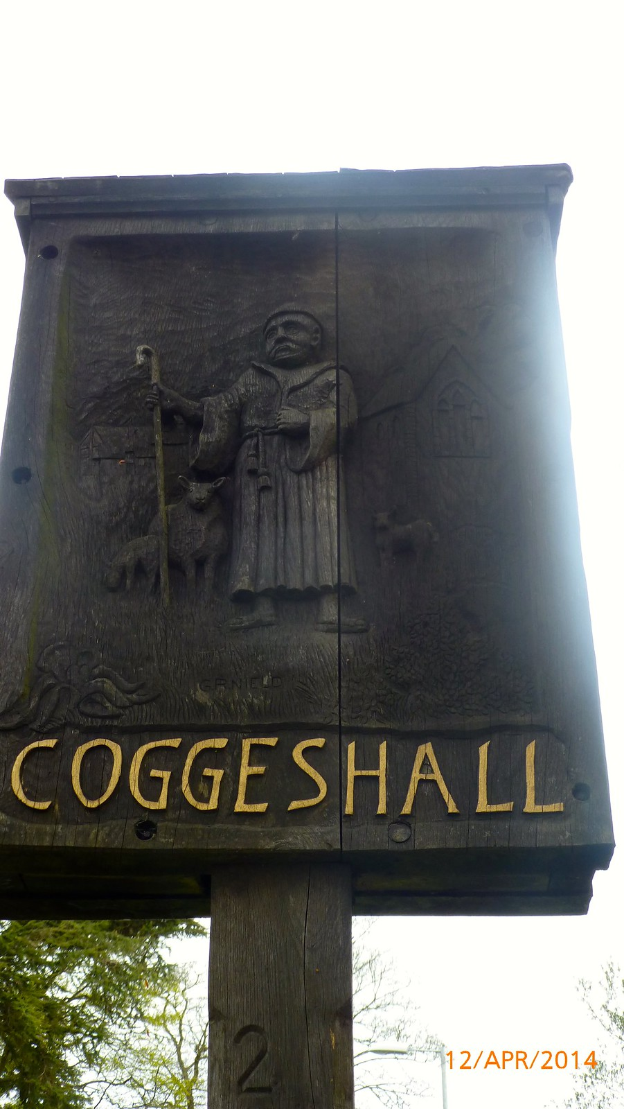 Coggeshall village sign SWC Walk 216 Kelvedon Circular