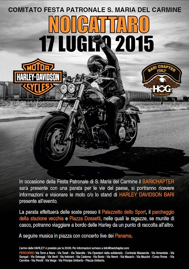 Noicattaro. Raduno Harley Davidson intero