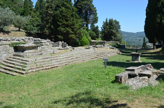 Etrusco-Roman temple, first built around the late 4th century BC, destroyed by fire in the 1st century BC and rebuilt by the Romans under Augustus, Roman Faesulae, Fiesole, Italy