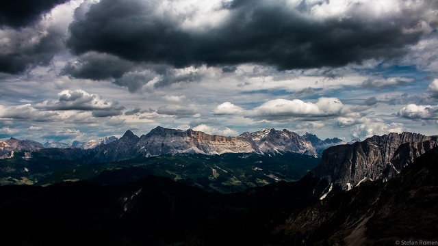 Cloudy mountain day