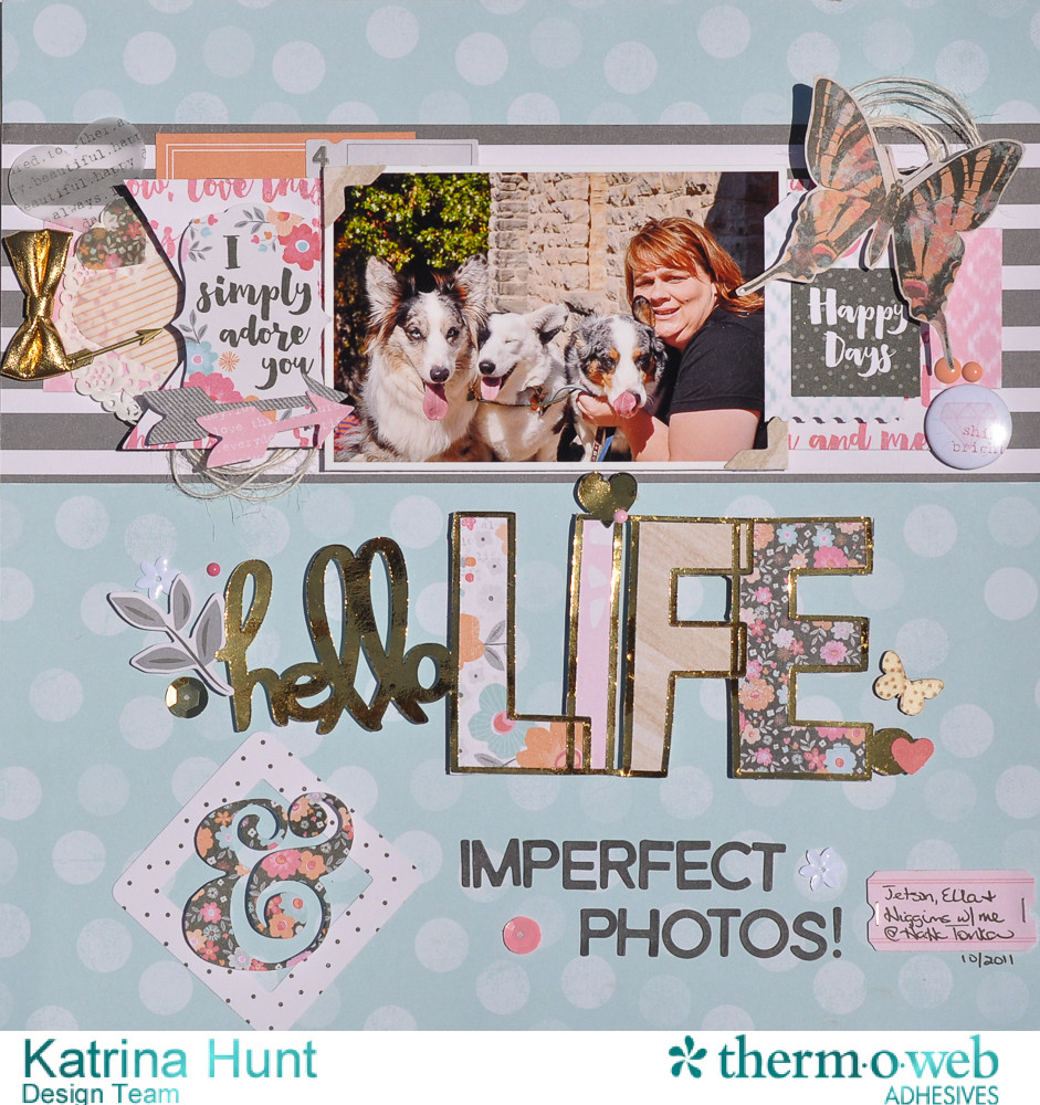 Hello_Life_Scrapbook_Layout_ThermOWeb_DecoFoil_Cocoa_Vanilla_Studio_Katrina_Hunt_1000Signed-1