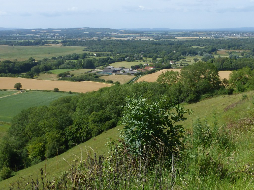 View from the downland climb Pulborough to Amberley walk