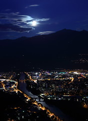 Blue moon over Innsbruck