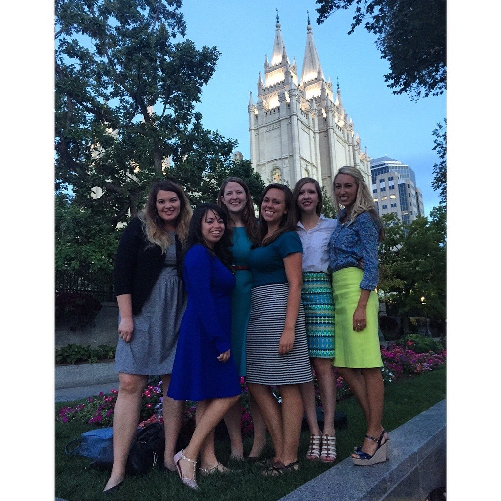 DC friends at Temple Square
