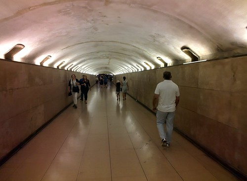 Underpass to Arc de Triomphe, Paris #throughglass