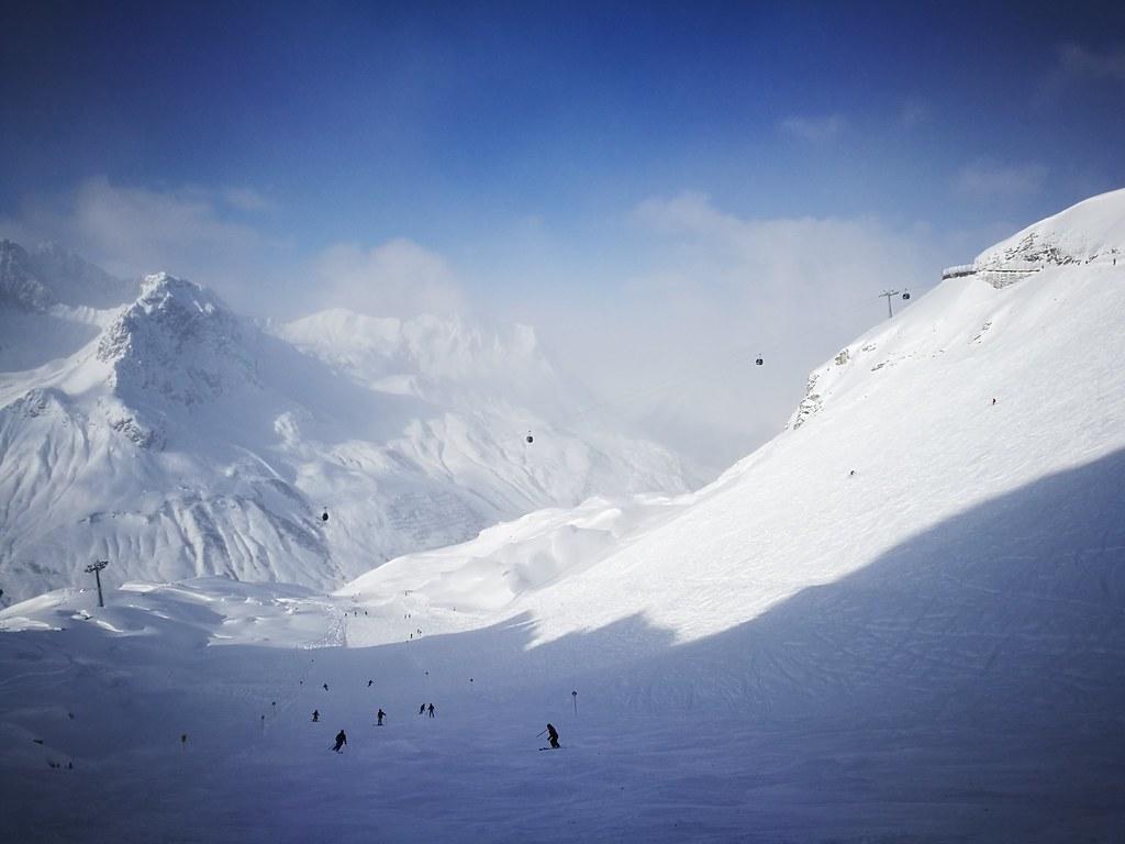 Bowl skiing at Trittkopf