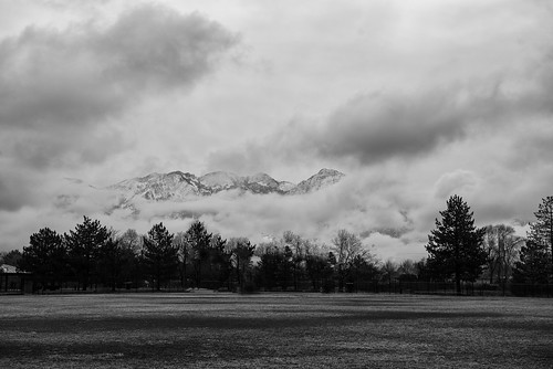 adventure kevinvanemburghphotography nikon outdoors outside travel utah saltlakecity mountains mountainrange rockies nature travelphotography clouds cloudysky cloudscape morning sunrise firstlight blackandwhite sugarhousepark
