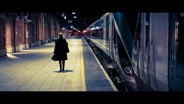 The last train - Dublin, Ireland - Color street photography