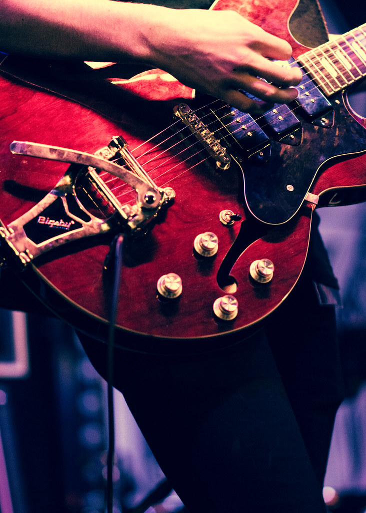 guitar, electric guitar, gig, live music, stage, band photography