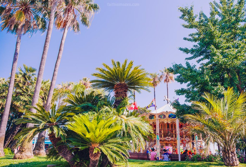 Merry-go-round in Cannes, French Riviera