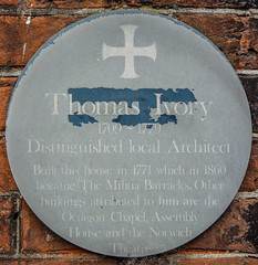 Photo of Thomas Ivory green plaque