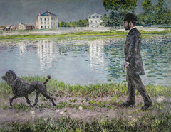 Gustave Caillebotte - Richard Gallo and His Dog, 1884 (Private Collection) viewed at The Painter's Eye Exhibit at National Gallery of Art Washington DC