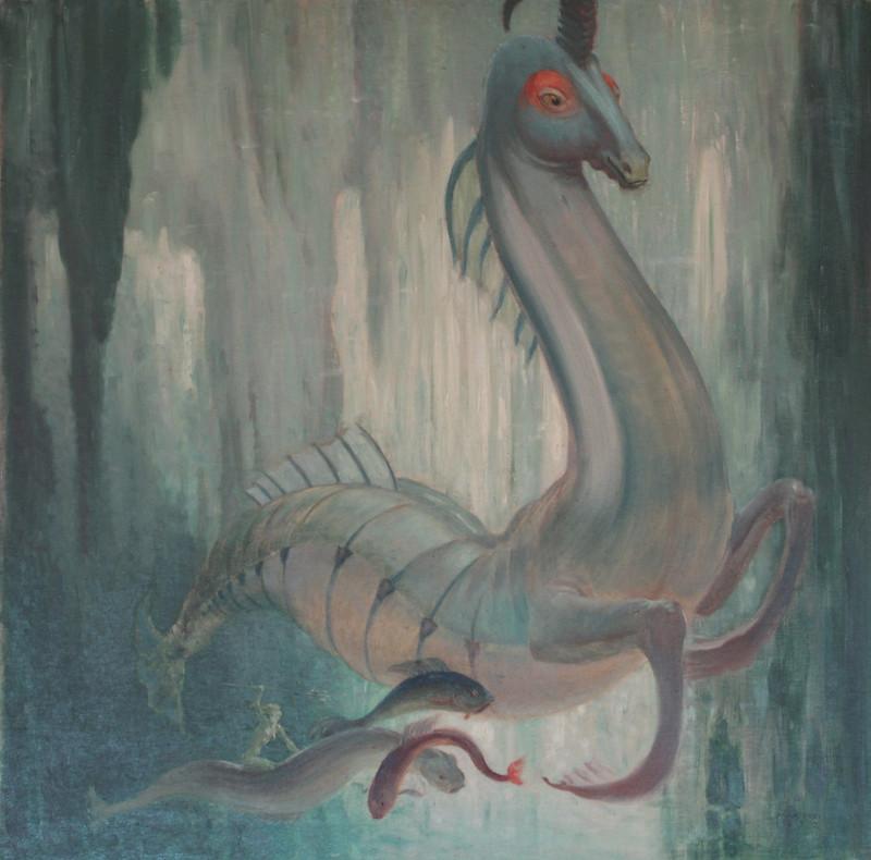 Max Frey - Amazone und einhörniges Seepferd, 1932