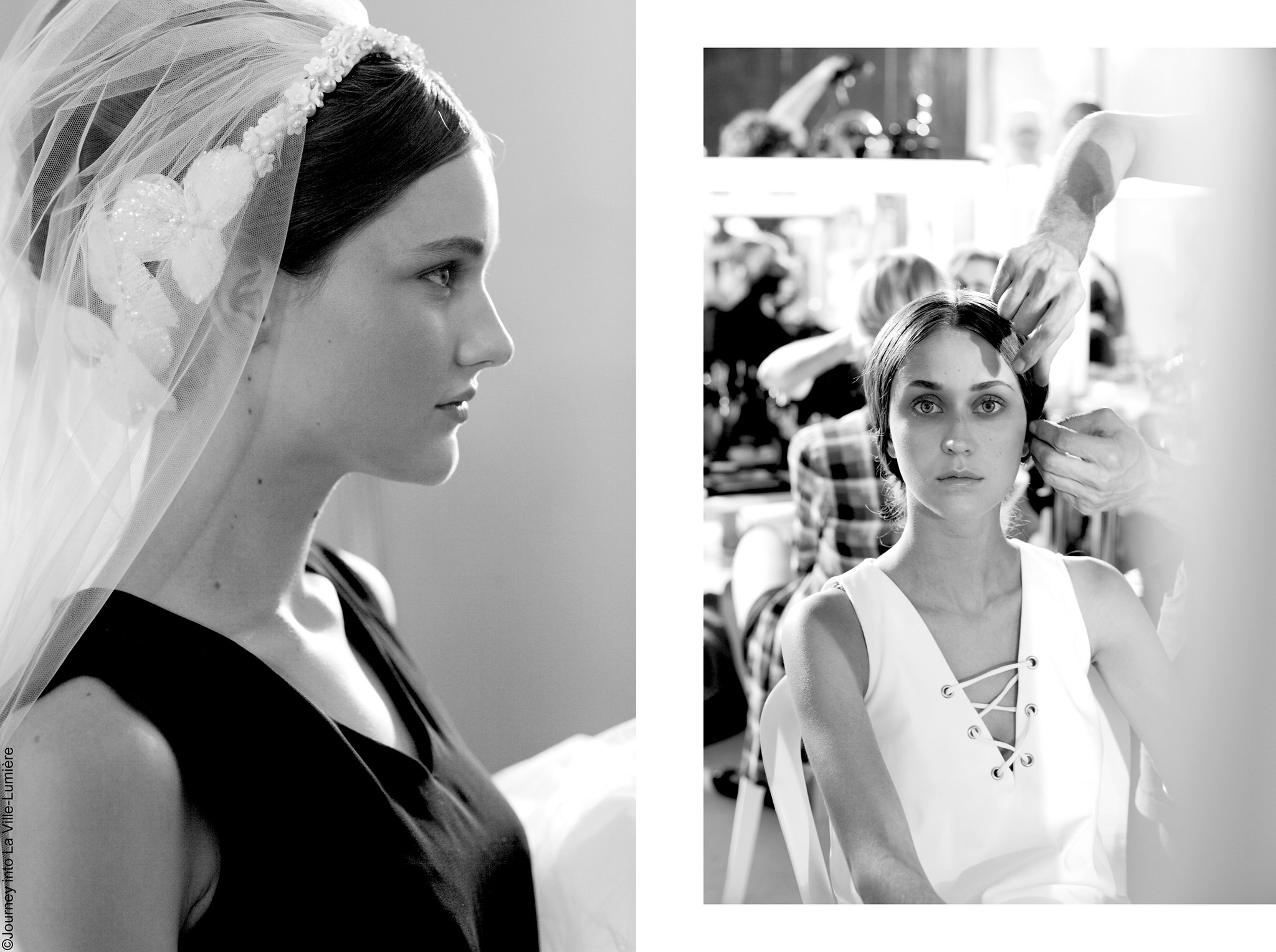 Georges Hobeika Backstage, Haute Couture