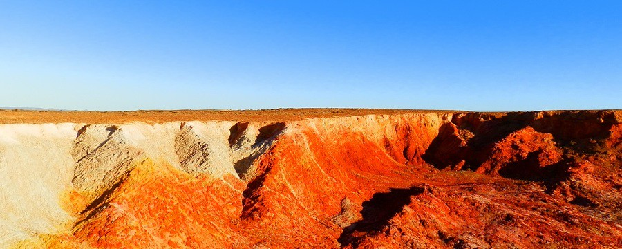 Ochre Cliffs near Lyndhurst South Australia