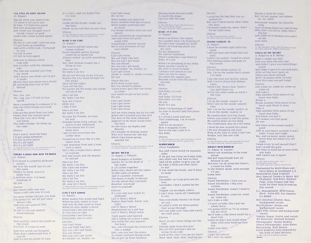 "SAMMY HAGAR STANDING HAMPTON Nederland ORIG SEXY COVER 12"" LP VINYL"